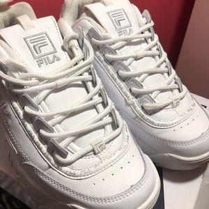 Fila White Reflective Shoes